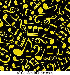 Patrón de notas musicales Eps10
