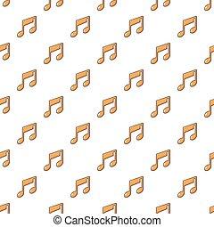 Patrón de notas musicales sin costura