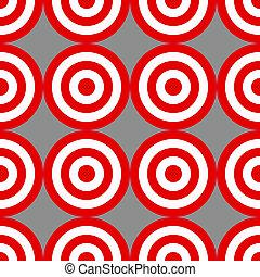 Patrón de objetivos sobre grises