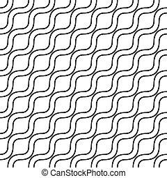 Patrón de ondas de monocromo
