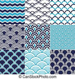Patrón de ondas marinas