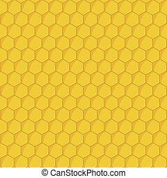 Patrón de panal amarillo sin costura