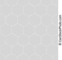 Patrón de panal blanco sobre gris