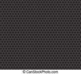 Patrón de panal negro sin costura