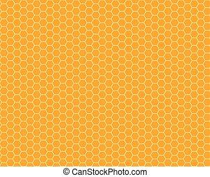 Patrón de panal sin color