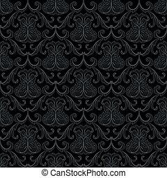 Patrón de papel de pared negro