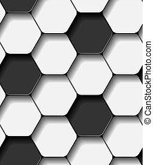 Patrón de pelota de fútbol vector sin costura