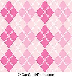 Patrón de rocío rosado de rombos para San Valentín