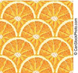 Patrón de rodajas de naranja. Citrus Vector