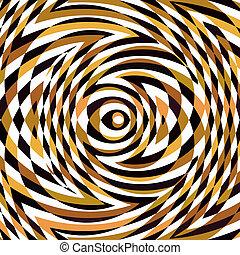 Patrón de rompecabezas marrón