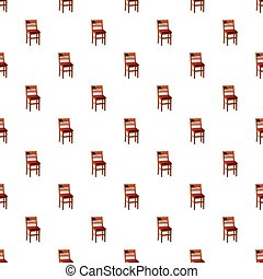 Patrón de silla de madera
