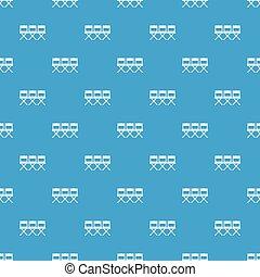 Patrón de sillas azul sin costura