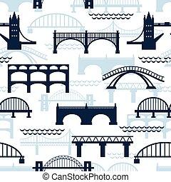 Patrón de siluetas de puente
