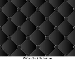 Patrón de tapicería negro