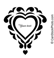 Patrón de tatuajes, adorno del corazón