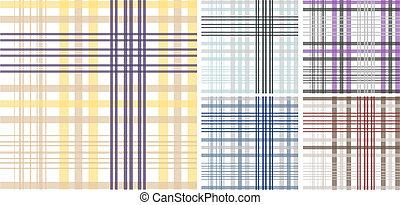 Patrón de tela de cuadros sin fisuras