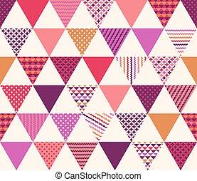 Patrón de textura del triángulo sin costura
