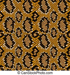 Patrón de textura sin costura de cocodrilo o piel de serpiente, fondo vector grunge