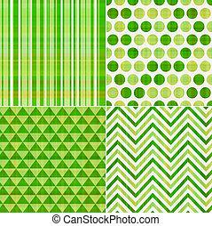 Patrón de textura verde sin costura