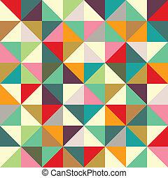 Patrón de triángulo sin costura