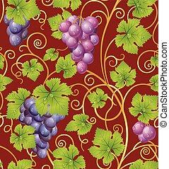 Patrón de uva sin costura