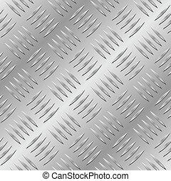 Patrón de vector de metal de diamantes.