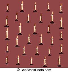 Patrón de velas de fondo