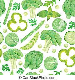 Patrón de verduras verdes
