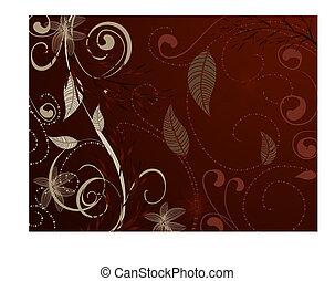 Patrón de vinage marrón rojo