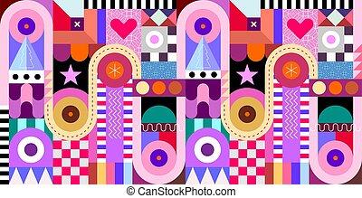 patrón decorativo, geométrico