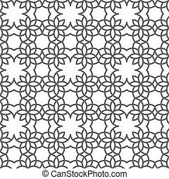 Patrón delicado sin costura al estilo árabe