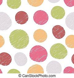 Patrón dibujado a mano de círculos coloridos
