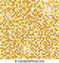 Patrón dorado sin costura