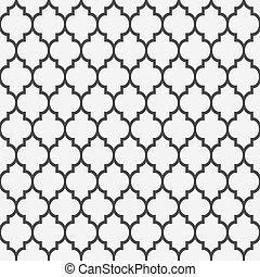 patrón, estilo, seamless, islámico