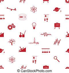 patrón, física, seamless, eps10, iconos