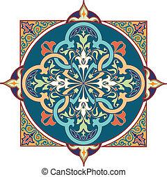 Patrón floral árabe motif arabic