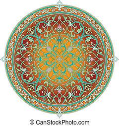 Patrón floral árabe motif floral floral árabe