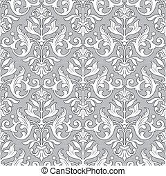 Patrón floral clásico, papel tapiz sin costura