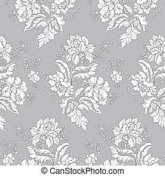 Patrón floral clásico, sin marcas