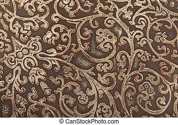 Patrón floral de cuero