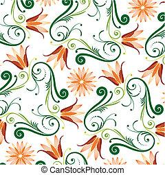 Patrón floral de fondo blanco