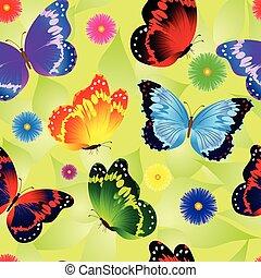 Patrón floral de verano sin costura