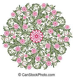 Patrón floral de vinagre
