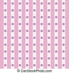 Patrón floral en rosa