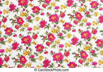 Patrón floral en tela sin costura. Un ramo de flores.