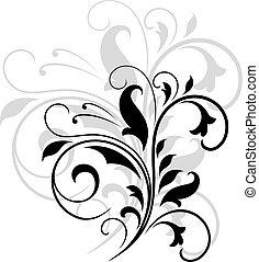 Patrón floral giratorio