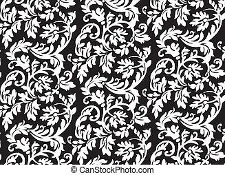 patrón floral, resumen, barroco