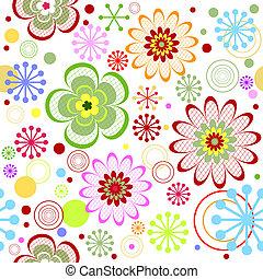 patrón floral, seamless, (vector), vívido