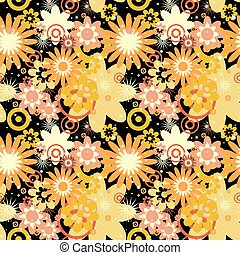 Patrón floral sin costura