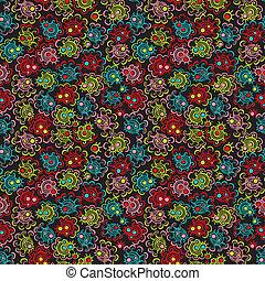 Patrón floral sin costura con flores.